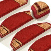 Trapmatten zelfklevend 15 st 65x21x4 cm rood