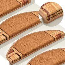 Trapmatten zelfklevend 15 st 65x21x4 cm beige