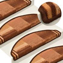 Trapmatten zelfklevend 15 st 65x21x4 cm bruin