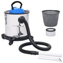 Asstofzuiger met HEPA filter 1200 W 20 L roestvrij staal