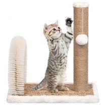 Kattenkrabpaal met borstelboog en krabpaal