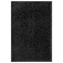 Deurmat wasbaar 40x60 cm zwart