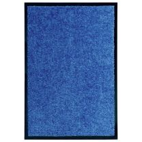 Deurmat wasbaar 40x60 cm blauw