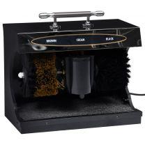 Schoenpoetsmachine volautomatisch elektrisch zwart