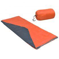 Slaapzak envelop lichtgewicht 10  1100 g oranje