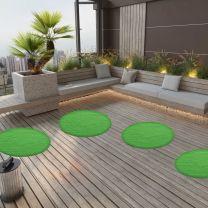 Kunstgras met noppen rond 95 cm groen