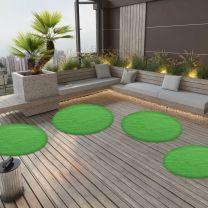 Kunstgras met noppen rond 130 cm groen