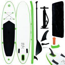 Stand-up paddleboard opblaasbaar groen en wit