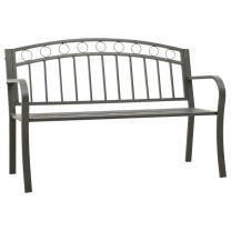 Tuinbank 125 cm staal grijs
