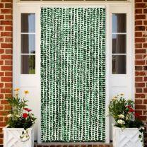 Vliegengordijn 56x185 cm chenille groen en wit
