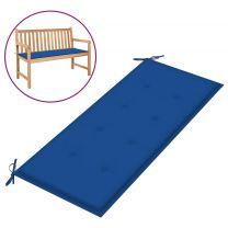 Tuinbankkussen 120x50x4 cm stof koningsblauw