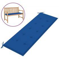 Tuinbankkussen 150x50x4 cm stof koningsblauw