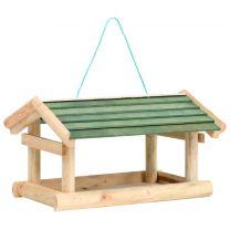 Vogelvoeder 35x29,5x21 cm massief hout