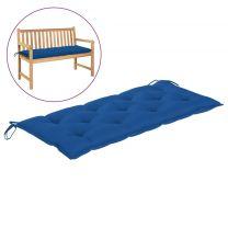 Tuinbankkussen 120x50x7 cm stof blauw