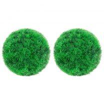 Kunstbuxusbollen 2 st 22 cm