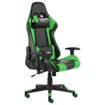 Gamestoel draaibaar PVC groen