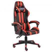 Racestoel kunstleer zwart en rood