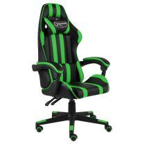 Racestoel kunstleer zwart en groen