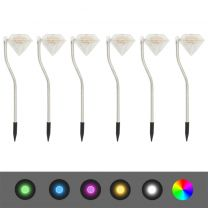 Tuinlampen 6 st solar LED 9x7,8x29,5 cm
