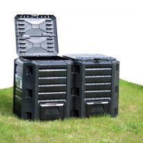 Compostbak 800 L zwart