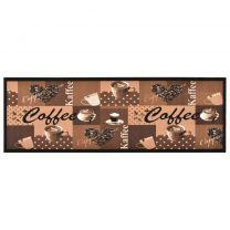 Keukenmat wasbaar Coffee 60x180 cm bruin