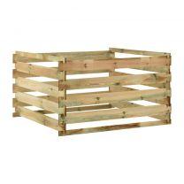 Tuincompostbak gelat 120x120x70 cm gempregneerd grenenhout