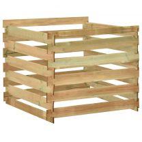 Tuincompostbak gelat 100x100x80 cm gempregneerd grenenhout