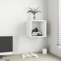 Wandkast 37x37x37 cm spaanplaat wit