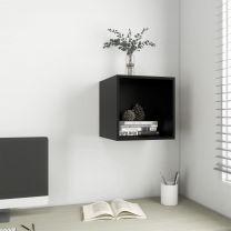 Wandkast 37x37x37 cm spaanplaat zwart