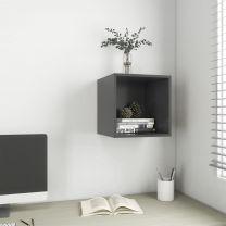 Wandkast 37x37x37 cm spaanplaat grijs