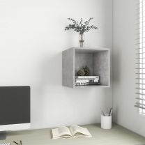 Wandkast 37x37x37 cm spaanplaat betongrijs