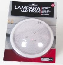 Led lamp rond kunststof diameter 14 cm in wit
