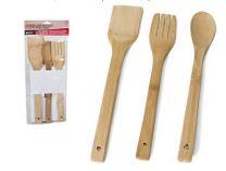 Spatelset - Keukengerei - 3 delig bamboe 30 cm