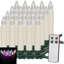 LED Kerstboom Kaarsen 20 stuks Kleurrijk met Afstandsbediening
