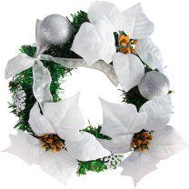 Deurkrans kerstkrans 22cm wit