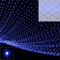 Lichtketting blauw 160 LED's 200x150cm voor binnen of buiten