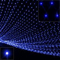 Lichtketting blauw 100 LED's 120x120cm voor binnen of buiten