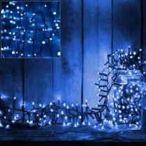 Kerstverlichting blauw 100 LED 6 meter