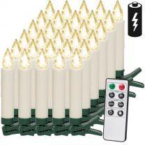 LED Kerstboom Kaarsen 30 stuks warm wit met Afstandsbediening