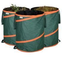 Gardebruk Popup tuintas groen inhoud 85 liter , set van 3 stuks