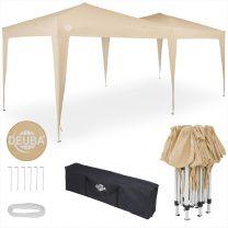 Easy Up - Vouwtent - Paviljoen- Partytent beige 3x6 mtr