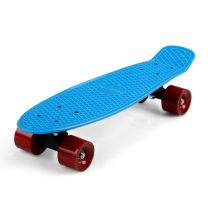 Skateboard Retro 57cm - blauw - rood - tot 100 kg belastbaar