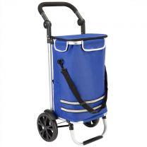 Boodschappentrolley, blauw , met koelvak, tas afneembaar