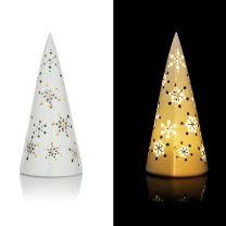 LED-porseleinen piramide voor Kerstmis motief Sneeuwvlokken