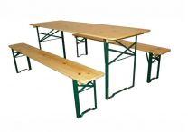 Complete biertafel set met banken 60x220 cm