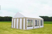 Classic Plus Partytent PVC 3x6x2 mtr in Wit-Beige