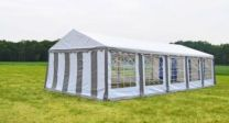 Classic Plus Partytent PVC 4x10x2 mtr in Wit-Grijs