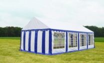 Classic Plus Partytent PVC 4x8x2 mtr in Wit-Blauw