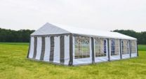 Classic Plus Partytent PVC 5x10x2 mtr in Wit-Grijs