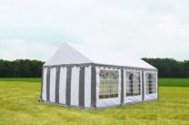 Classic Plus Partytent PVC 4x6x2 mtr in Wit-Grijs